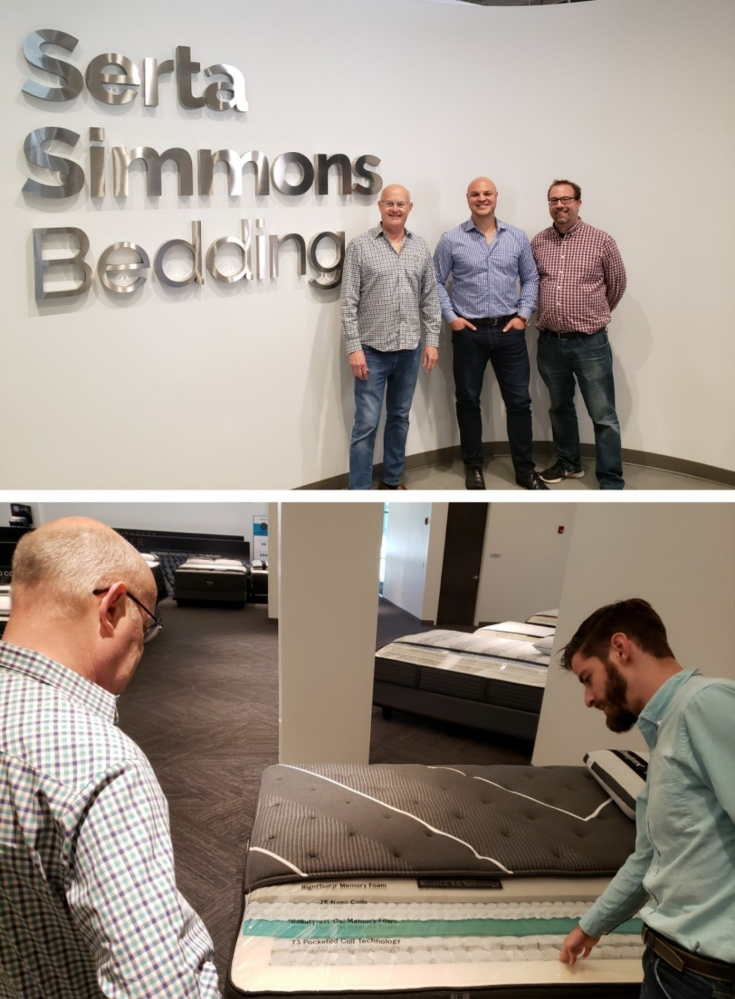 The Thermo-Flex team visits with Serta Simmons Bedding executives to discuss partnership opportunities